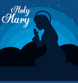 holy mary religious card vector image vector image