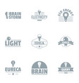 ingenious idea logo set simple style vector image
