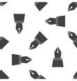 Ink pen nib pattern vector image vector image