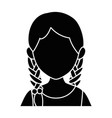 isolated young woman upperbody vector image vector image
