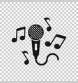 karaoke music icon in transparent style vector image