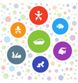 little icons vector image vector image