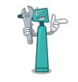 mechanic otoscope mascot cartoon style vector image
