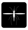 Mosquito button vector image vector image