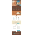 One Page Website Design vector image vector image