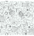 pattern with cute girl princess musical vector image vector image