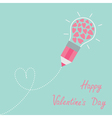 pencil light bulb dash line heart inside vector image vector image