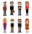 pixel style people vector image
