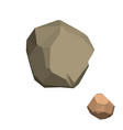polygonal stone isolated on white background vector image vector image