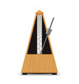 realistic detailed 3d classic mechanical metronome vector image vector image