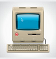 retro computer xxl icon vector image