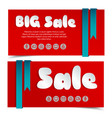 sale cards in paper style vector image vector image