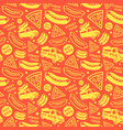 seamless pattern for street food festival vector image vector image