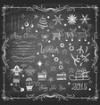 set christmas icons and decorative elements vector image