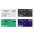 Set of Colorful Concert Tickets with Guitar and vector image vector image