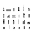 Set of various city buildings vector image vector image