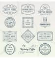 set vintage coffee badges vector image vector image