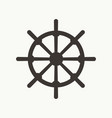 ship wheel simple icon vector image vector image