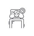 sleep line icon concept sleep linear vector image