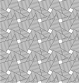 Slim gray wavy striped overlapping triangles vector image vector image