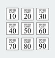 speed limit traffic sign set vector image