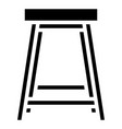 stool icon with glyph style eps10 vector image