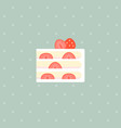strawberry layer cake with filling vector image vector image