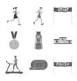 success and marathon symbol vector image vector image
