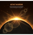 Sun eclipse abstract background vector image vector image