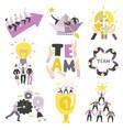 teamwork symbols set vector image