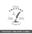 theatre label vector image vector image