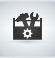 tool box flat icon vector image