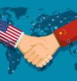trade war policy between the usa and china vector image