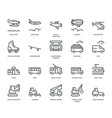 transportation icons side view part iv vector image vector image