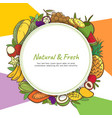 tropical fruits cute banner background template vector image vector image