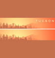 tucson beautiful skyline scenery banner vector image vector image