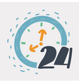 twenty four hour icon vector image vector image