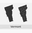 vermont map counties outline vector image vector image