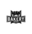vintage bakery shop logo inspiration isolated on vector image vector image