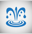 water icon blue set on black background for vector image