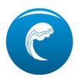 wave water ocean icon blue vector image vector image