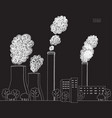white smokestack on black background vector image vector image