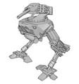 white war robot on white background vector image vector image