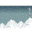 winter mountain landscape vector image vector image