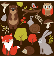 Woodland Animals vector image vector image