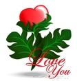 Flower - Heart Card vector image