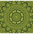 Green seamless mandala Vinatge element Tribal art vector image