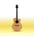 Acoustic guitar isolated on light background vector image