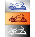 Motorbike logo design 1 vector image