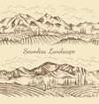 seamless pictures of nature landscape vineyard or vector image